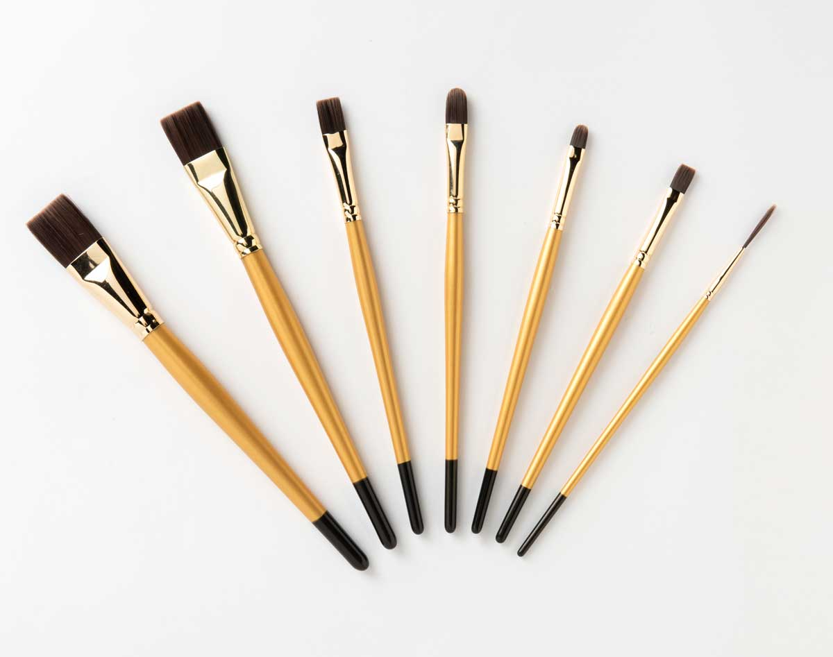 Let's Paint with FolkArt ® Select Firm Bristle Brush Set, 7 pc. - 99446