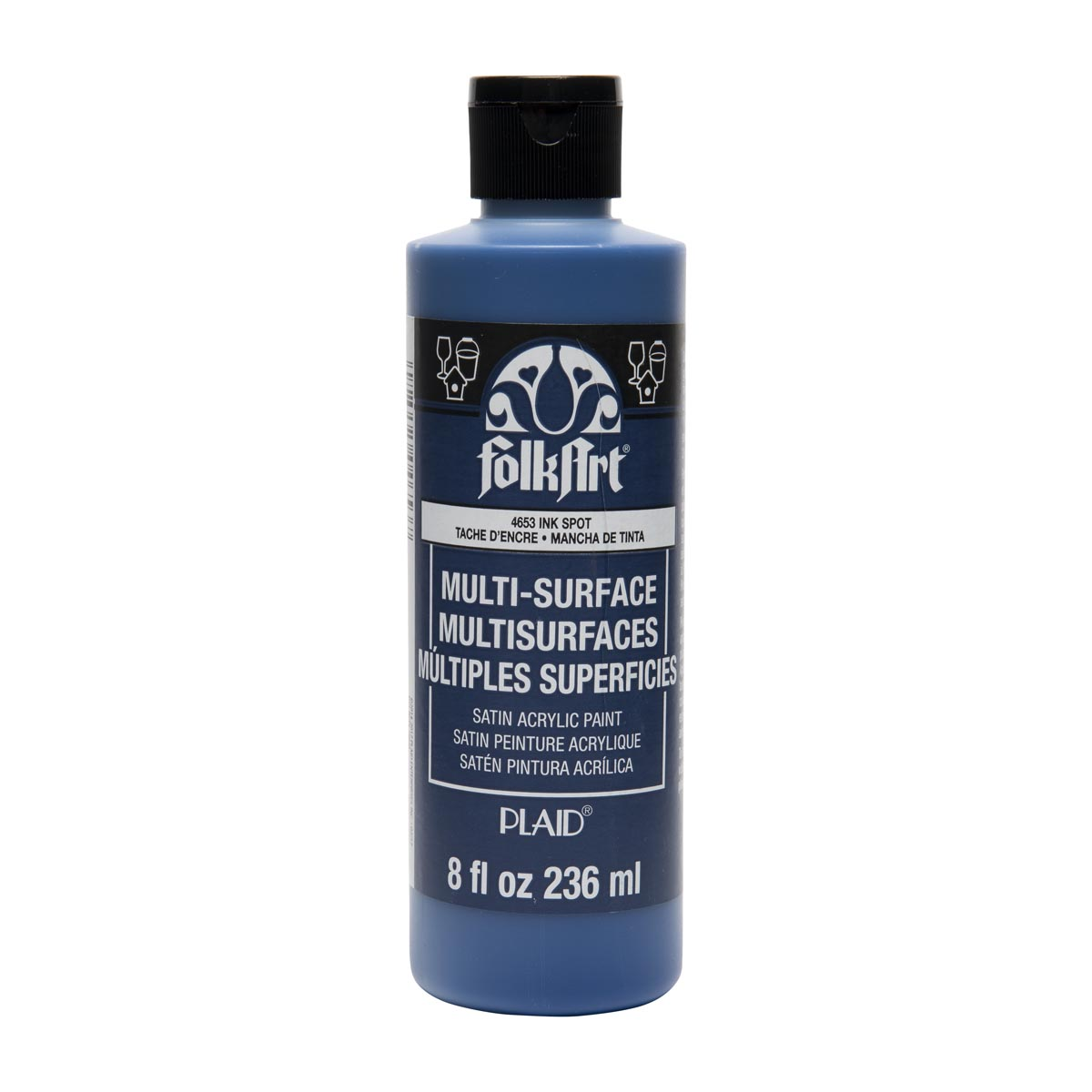 FolkArt ® Multi-Surface Satin Acrylic Paints - Ink Spot, 8 oz.