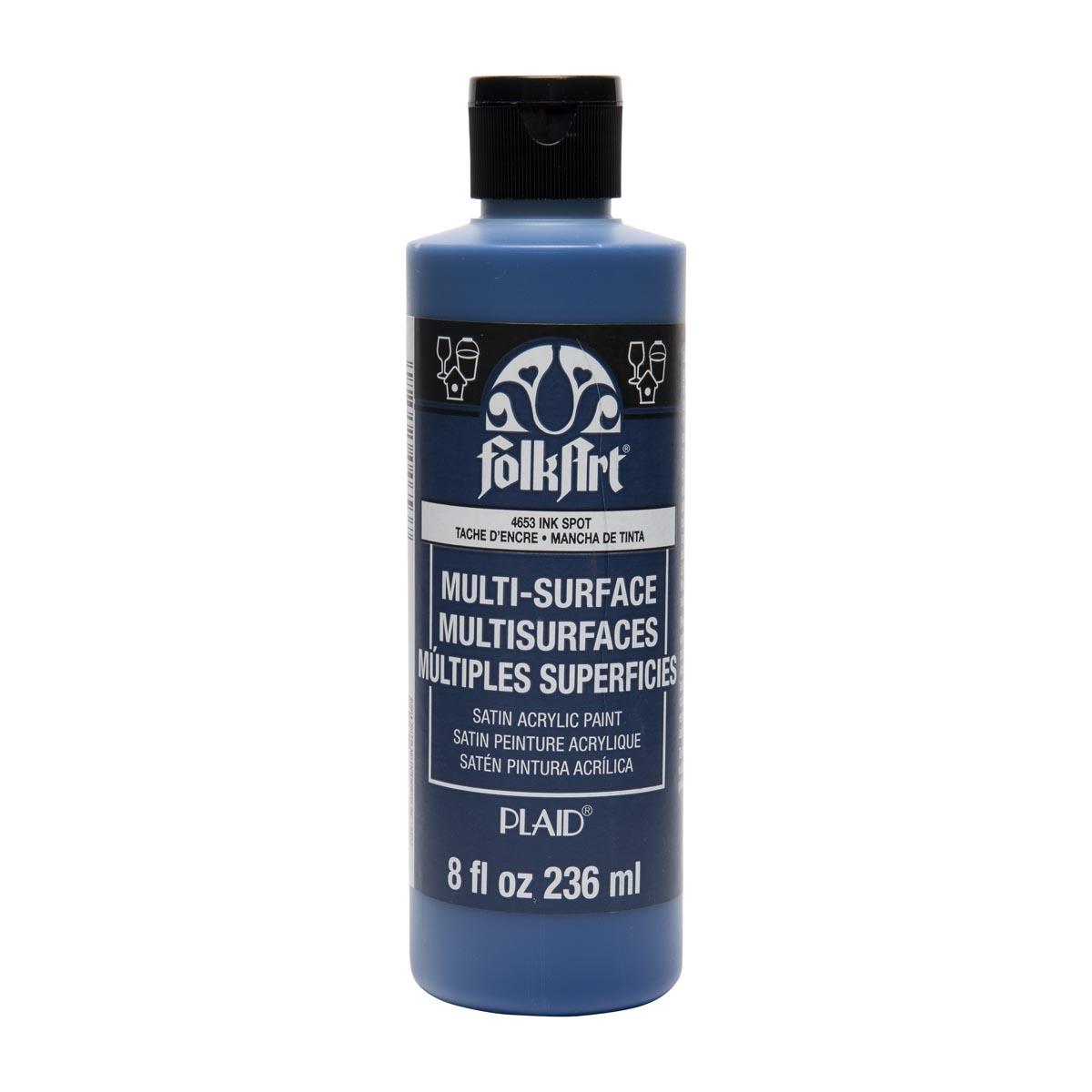 FolkArt ® Multi-Surface Satin Acrylic Paints - Ink Spot, 8 oz.