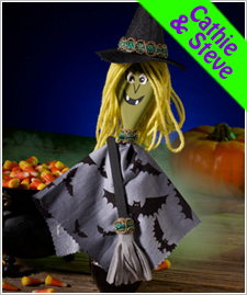Wood Spoon Witch Puppet