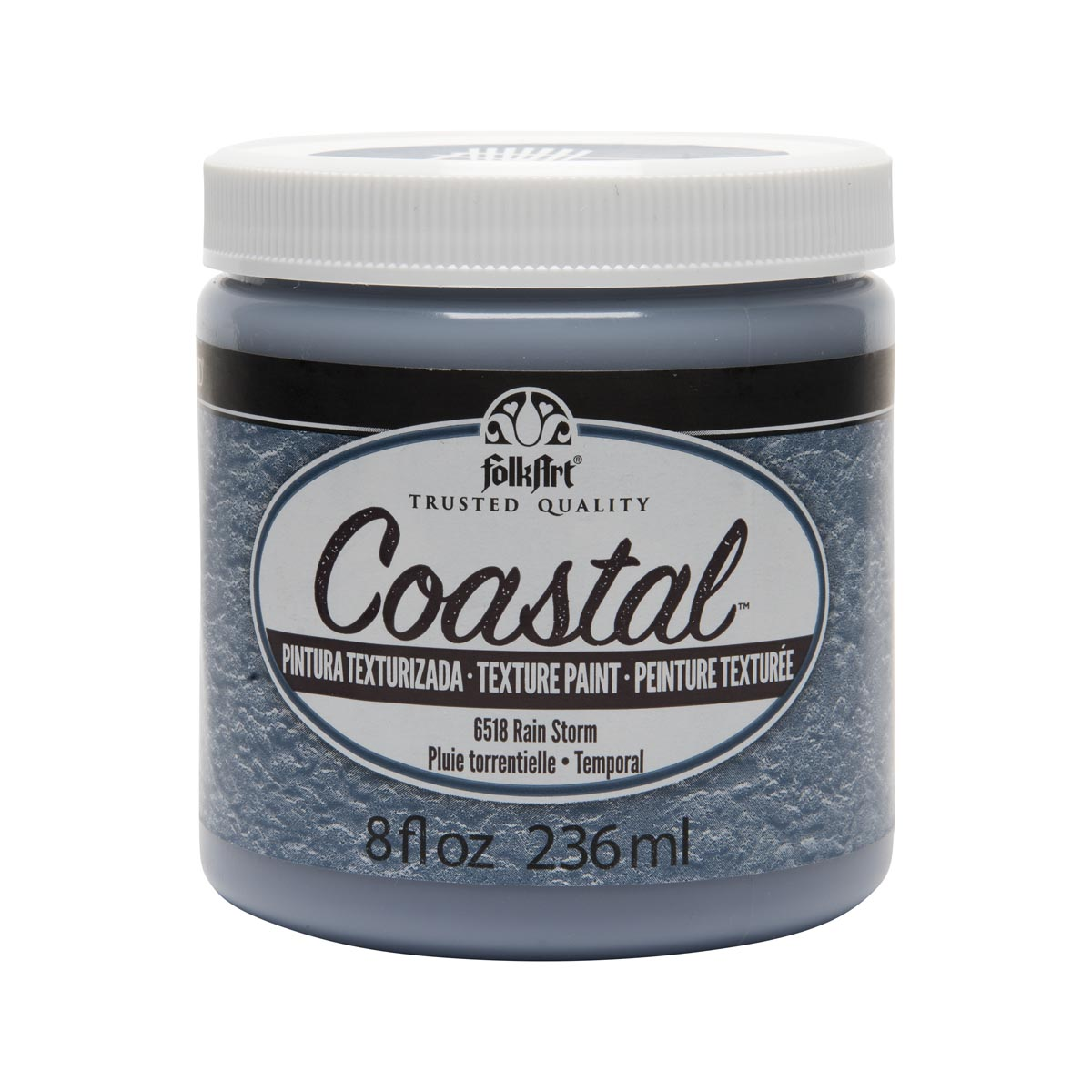 FolkArt ® Coastal™ Texture Paint - Rainstorm, 8 oz.