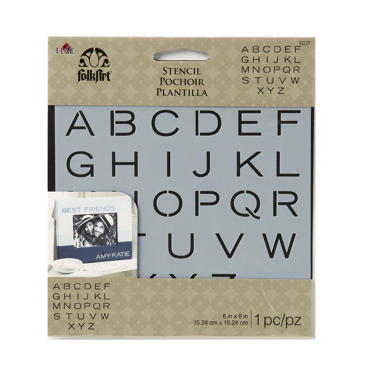 FolkArt ® Painting Stencils - Small - Sans Serif Alphabet - 13227