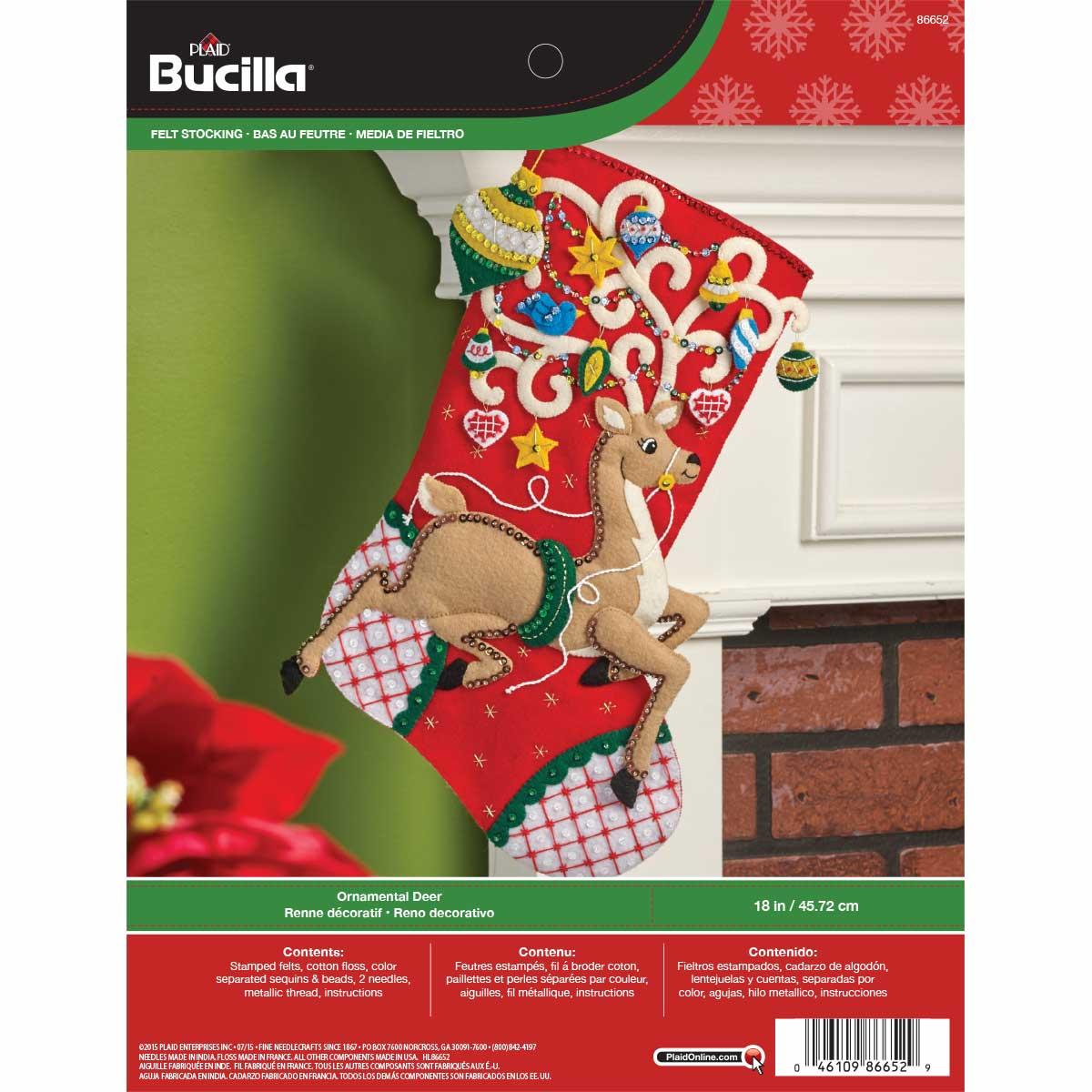 Bucilla ® Seasonal - Felt - Stocking Kits - Ornamental Deer - 86652