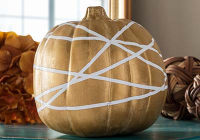 Gold Geometric Pumpkin