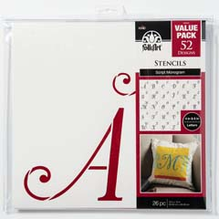 "FolkArt ® Stencil Value Packs - Script Monogram, 12"" x 12"" - 38956E"