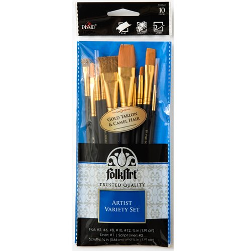 Folkart ® Brush Sets - Artist Variety Set, 10 pc.