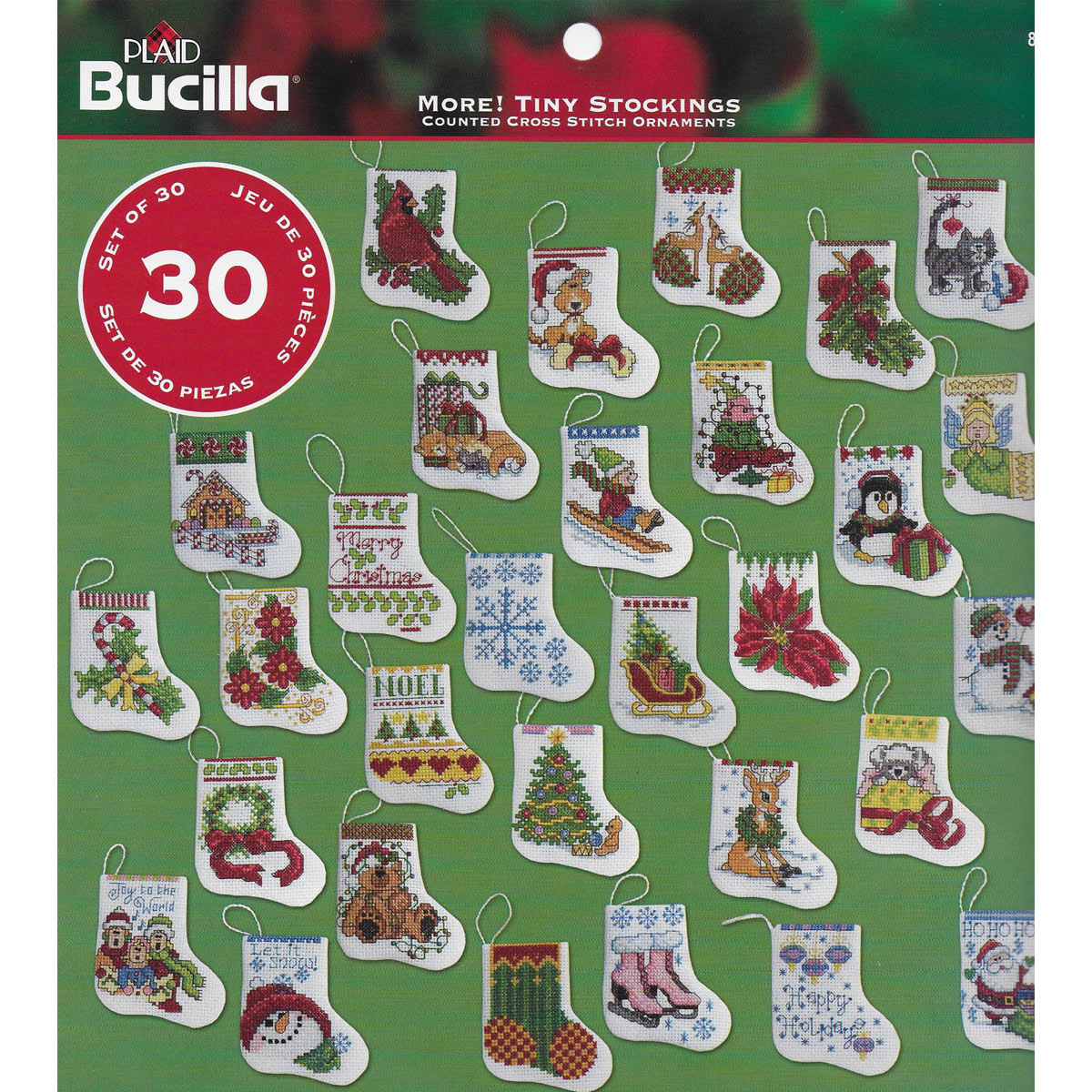 Bucilla ® Seasonal - Counted Cross Stitch - Ornament Kits - More Tiny Stockings