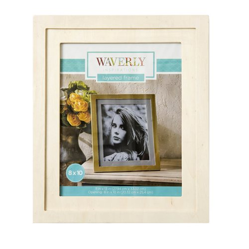 "Waverly ® Inspirations Surfaces - Layered Frame for 8"" x 10"""