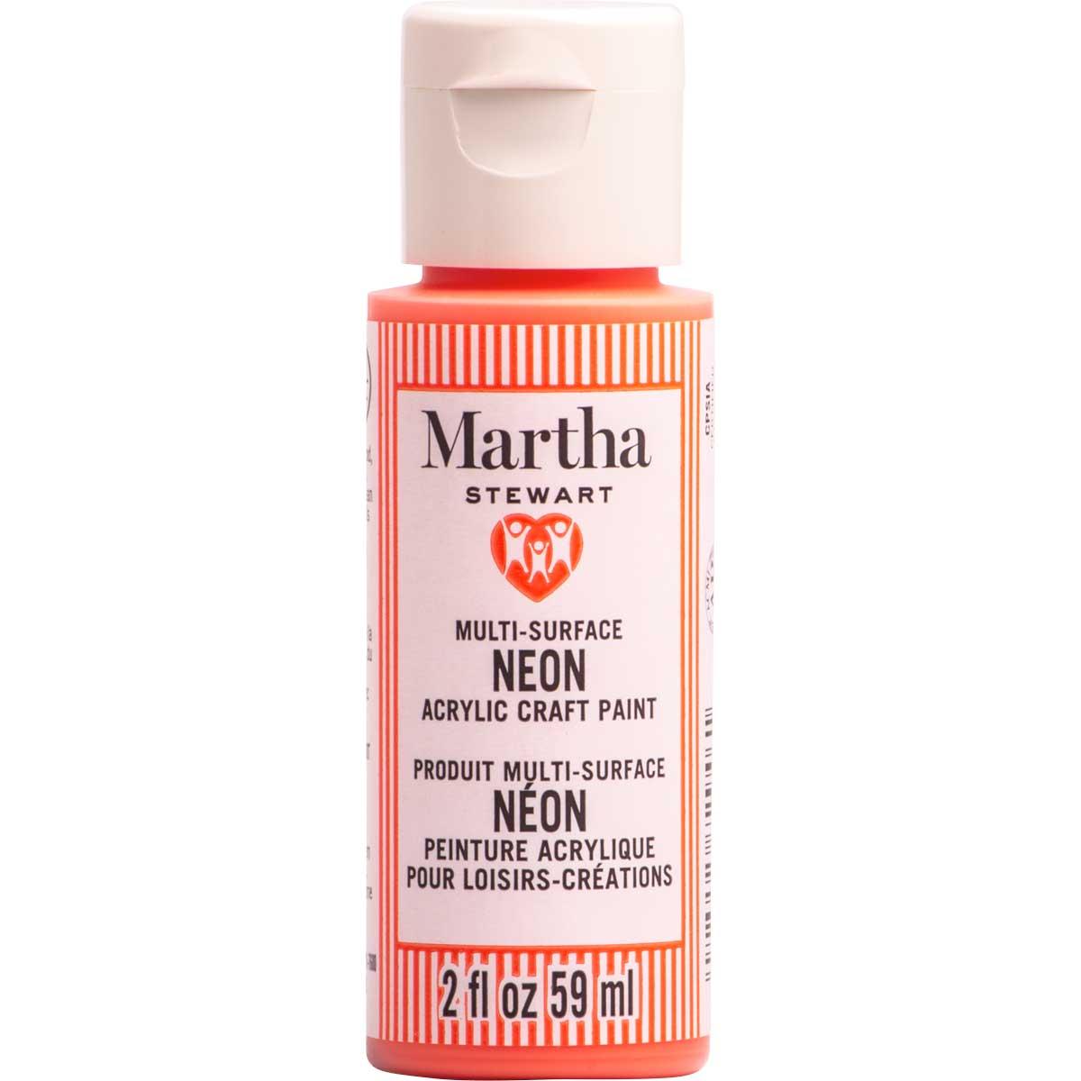 Martha Stewart ® Multi-Surface Neon Acrylic Craft Paint CPSIA - Solar Flare, 2 oz. - 72946