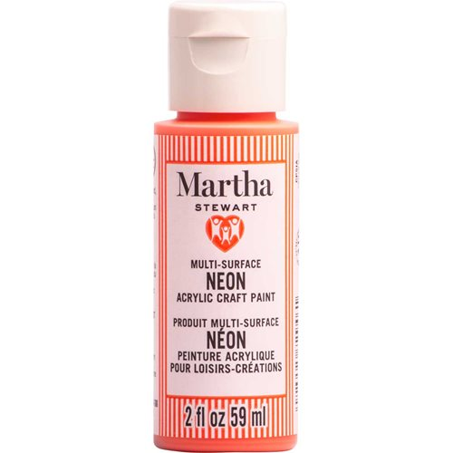 Martha Stewart ® Multi-Surface Neon Acrylic Craft Paint CPSIA - Solar Flare, 2 oz. - 72946