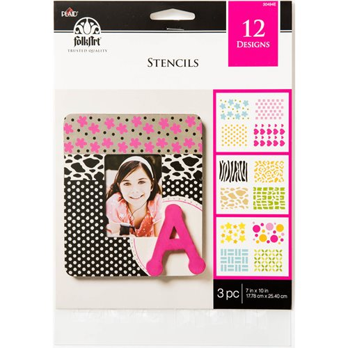 Plaid ® Craft Stencils - Value Packs - Backgrounds