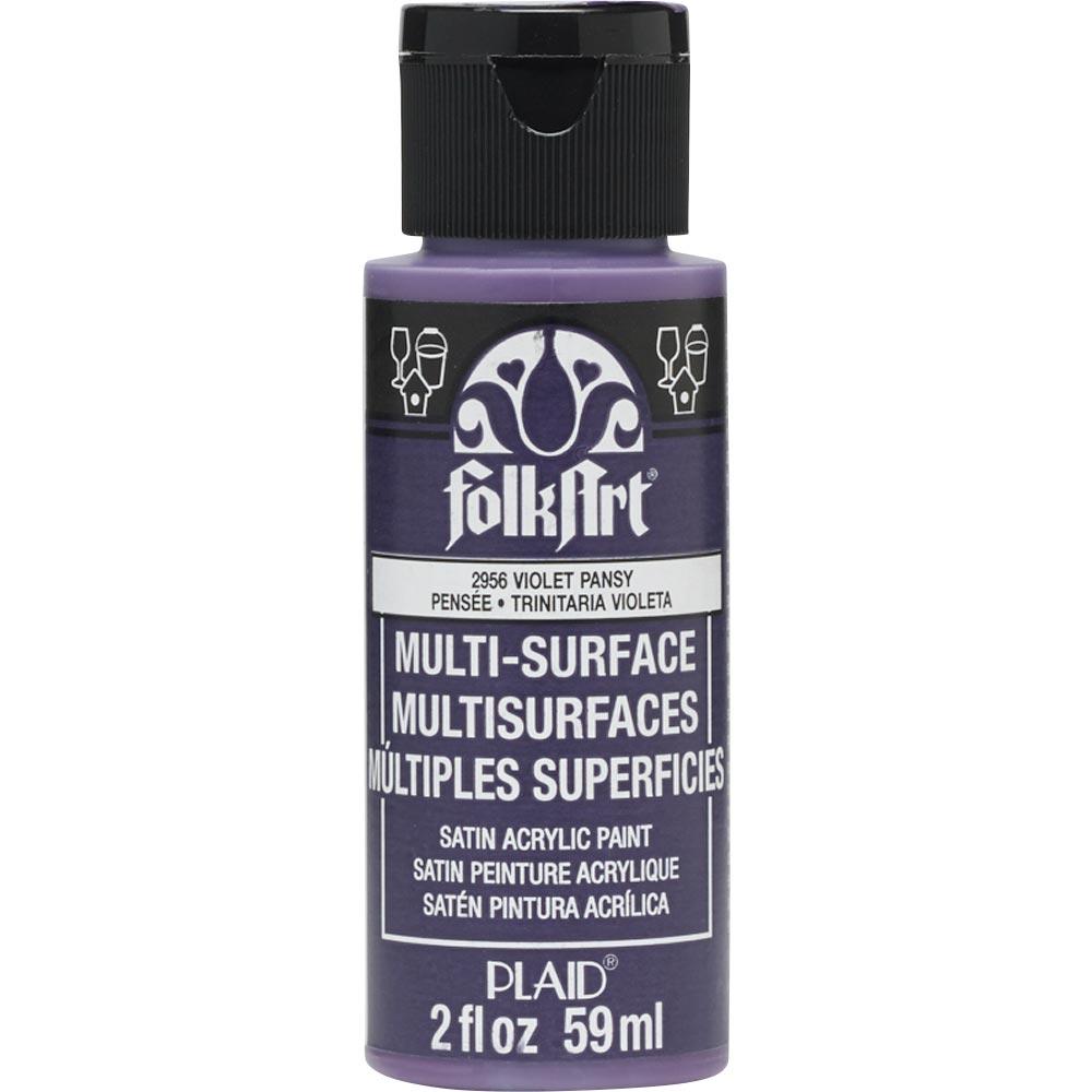 FolkArt ® Multi-Surface Satin Acrylic Paints - Violet Pansy, 2 oz.