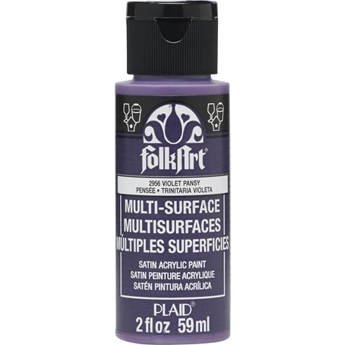 FolkArt ® Multi-Surface Satin Acrylic Paints - Violet Pansy, 2 oz. - 2956