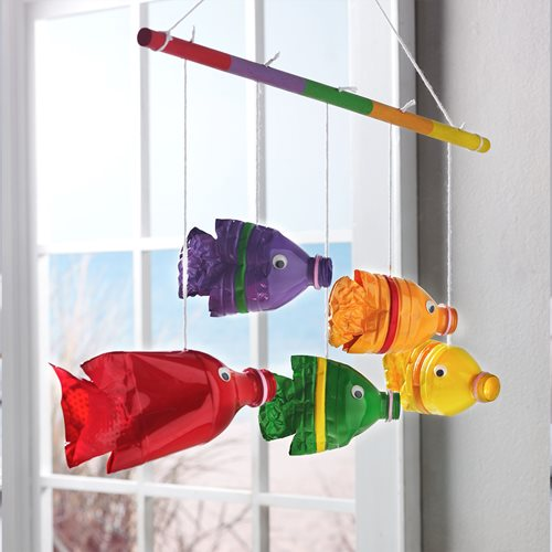 Recycled Plastic Bottle Fish Hanger