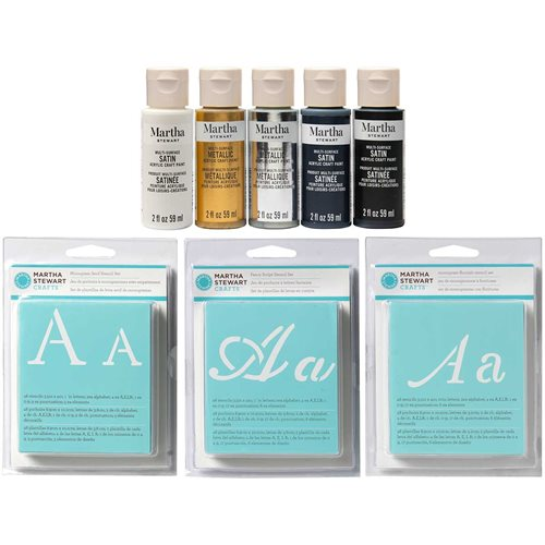 Martha Stewart ® Stencil and Paint Set, 8 pc. - MSALPHA8A