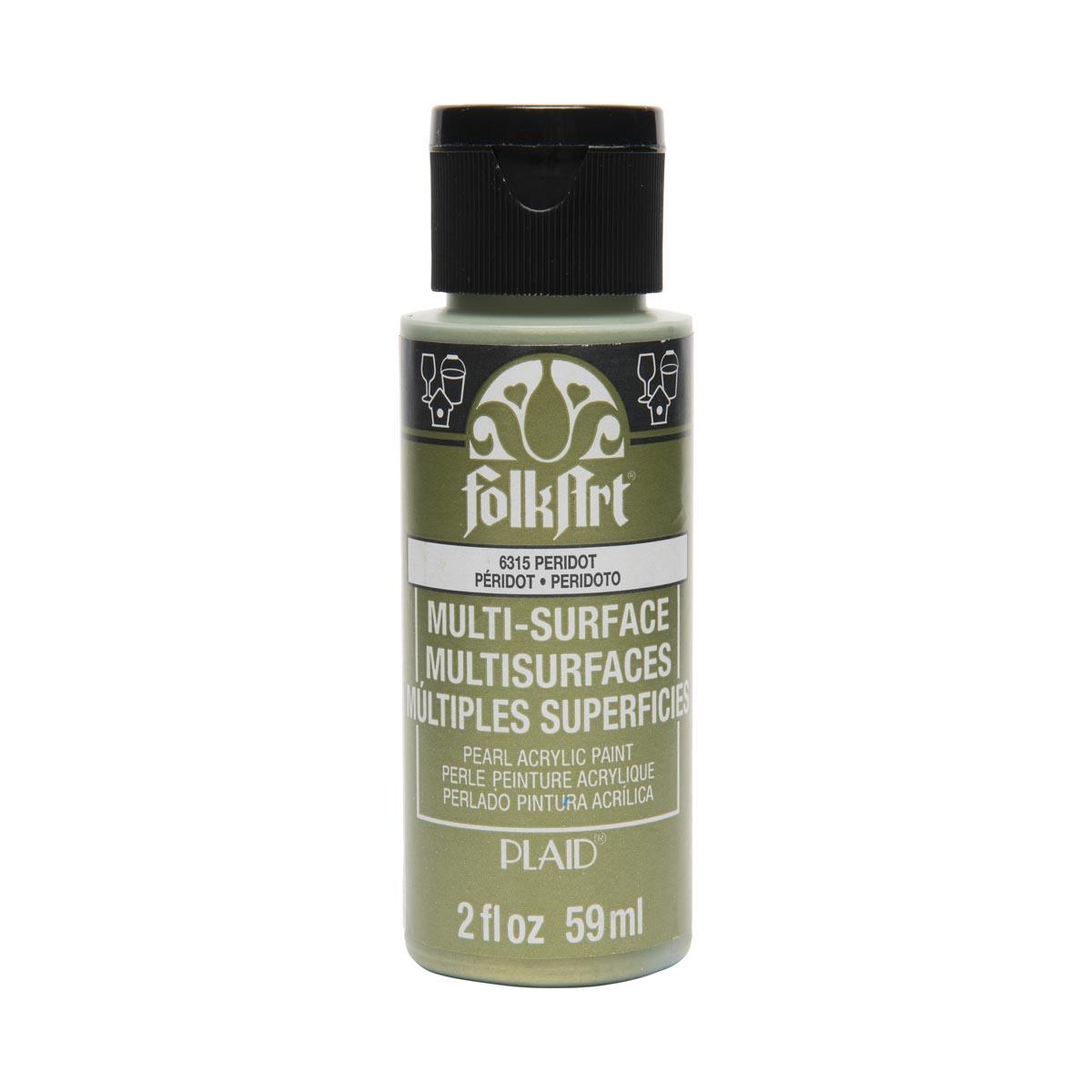 FolkArt ® Multi-Surface Pearl Acrylic Paints - Peridot, 2 oz.
