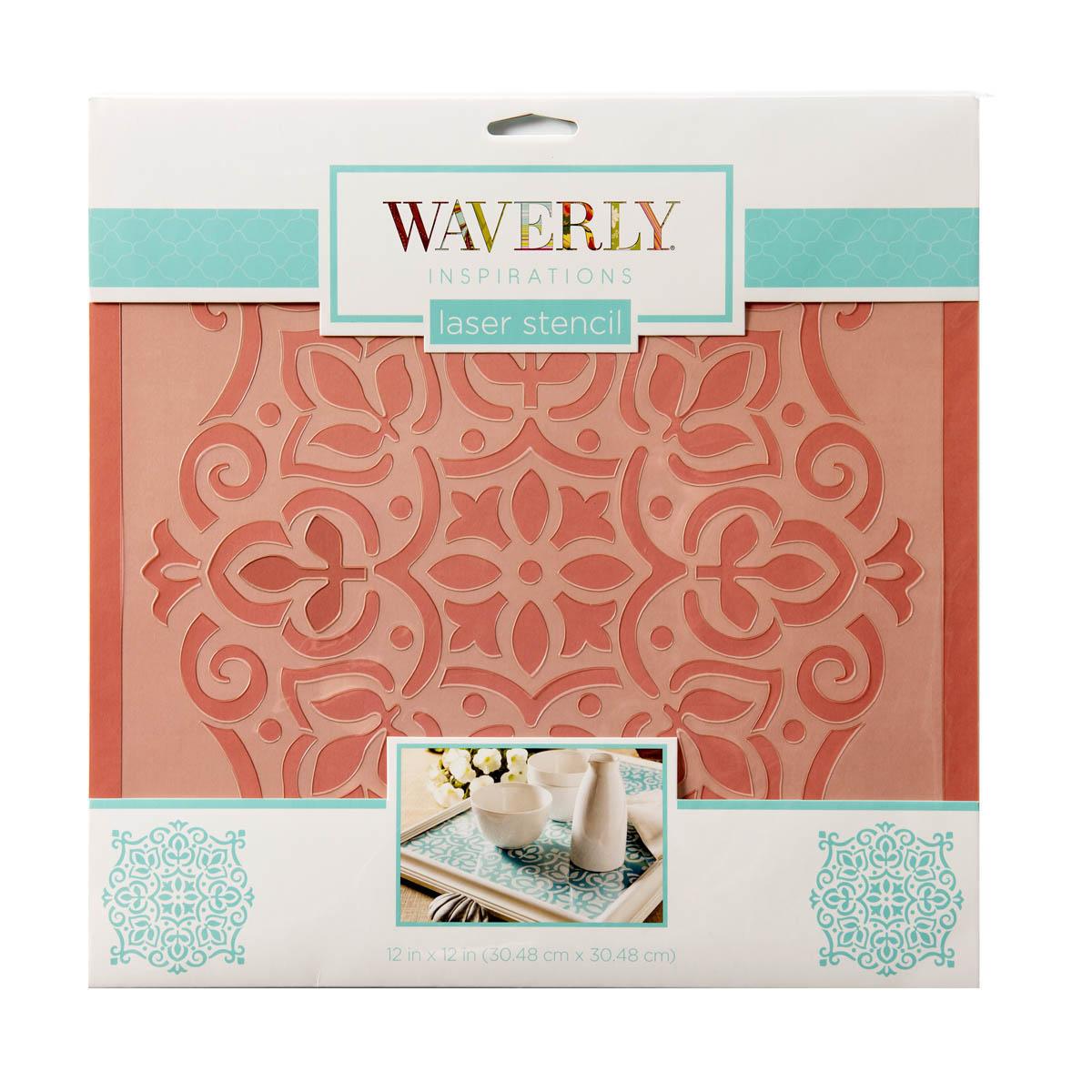 Waverly ® Inspirations Laser Stencils - Décor - Disc, 12