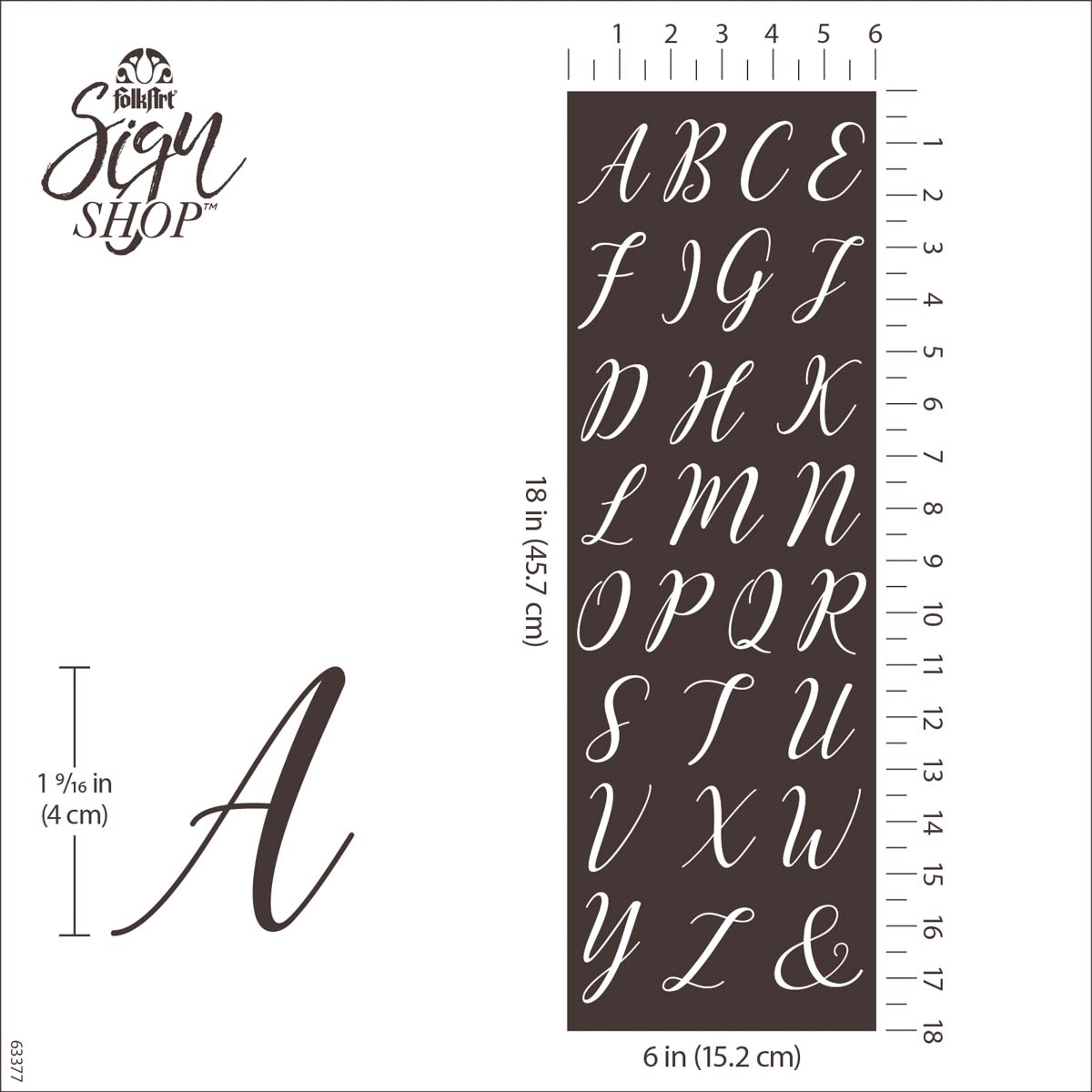 FolkArt ® Sign Shop™ Mesh Stencil - Script Letters - 63377