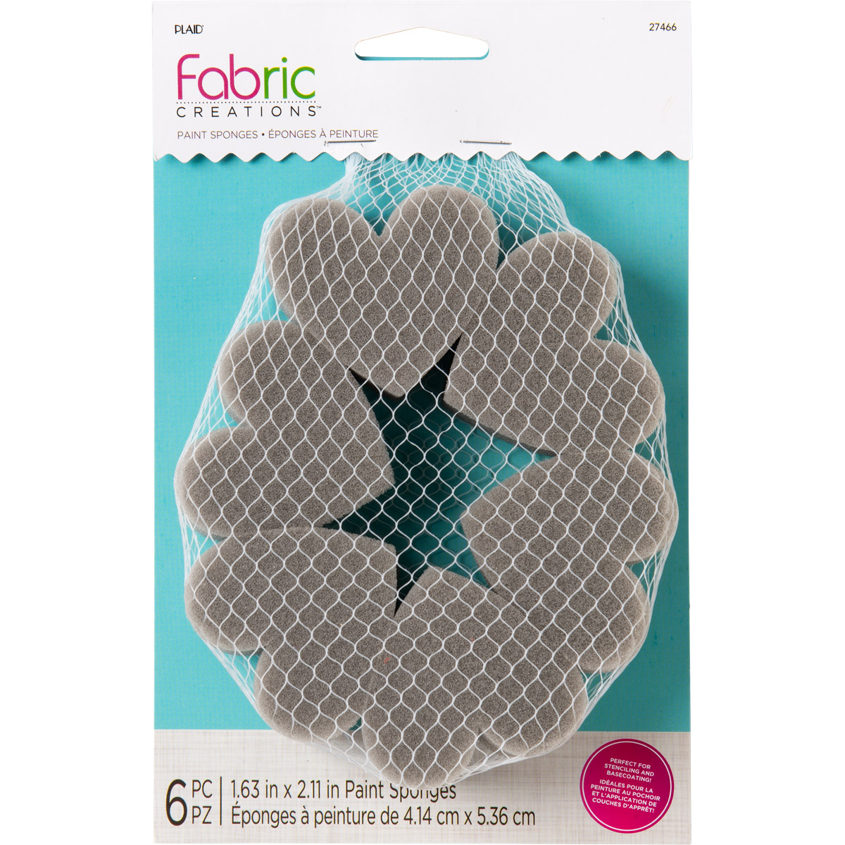 Fabric Creations™ Tools - Heart Shaped Sponge Applicators, 6 pc. - 27466
