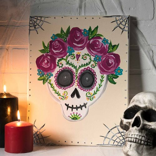 Day of the Dead Lady Painting