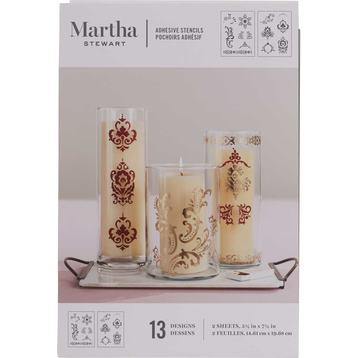 Martha Stewart® Scrolls Adhesive Stencils