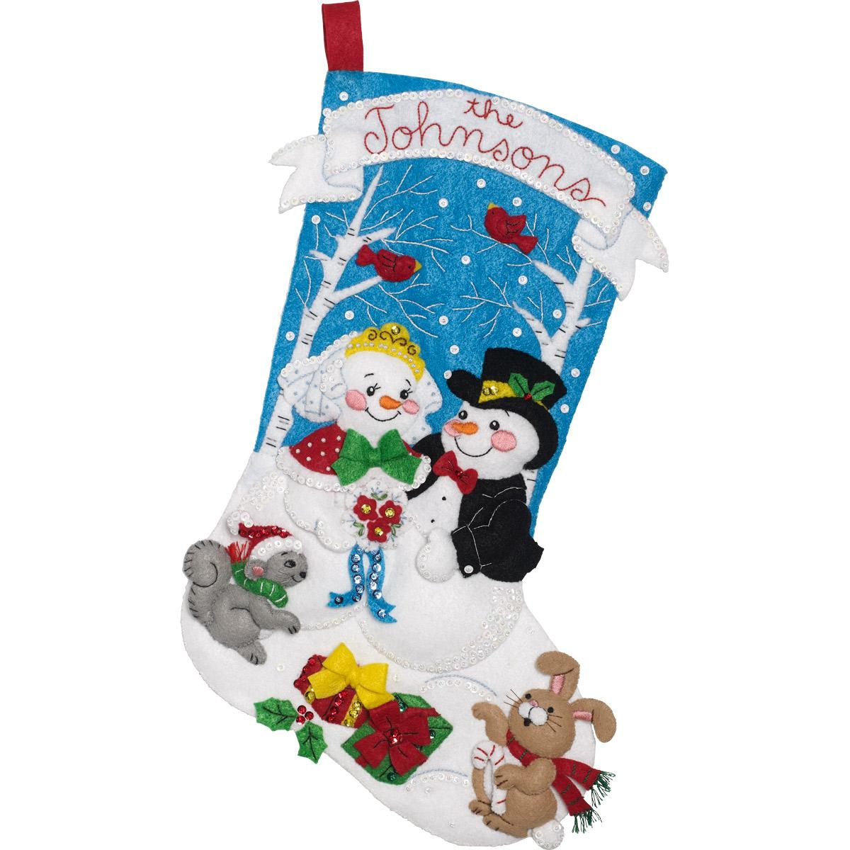 Bucilla ® Seasonal - Felt - Stocking Kits - Bride and Groom - 86943E