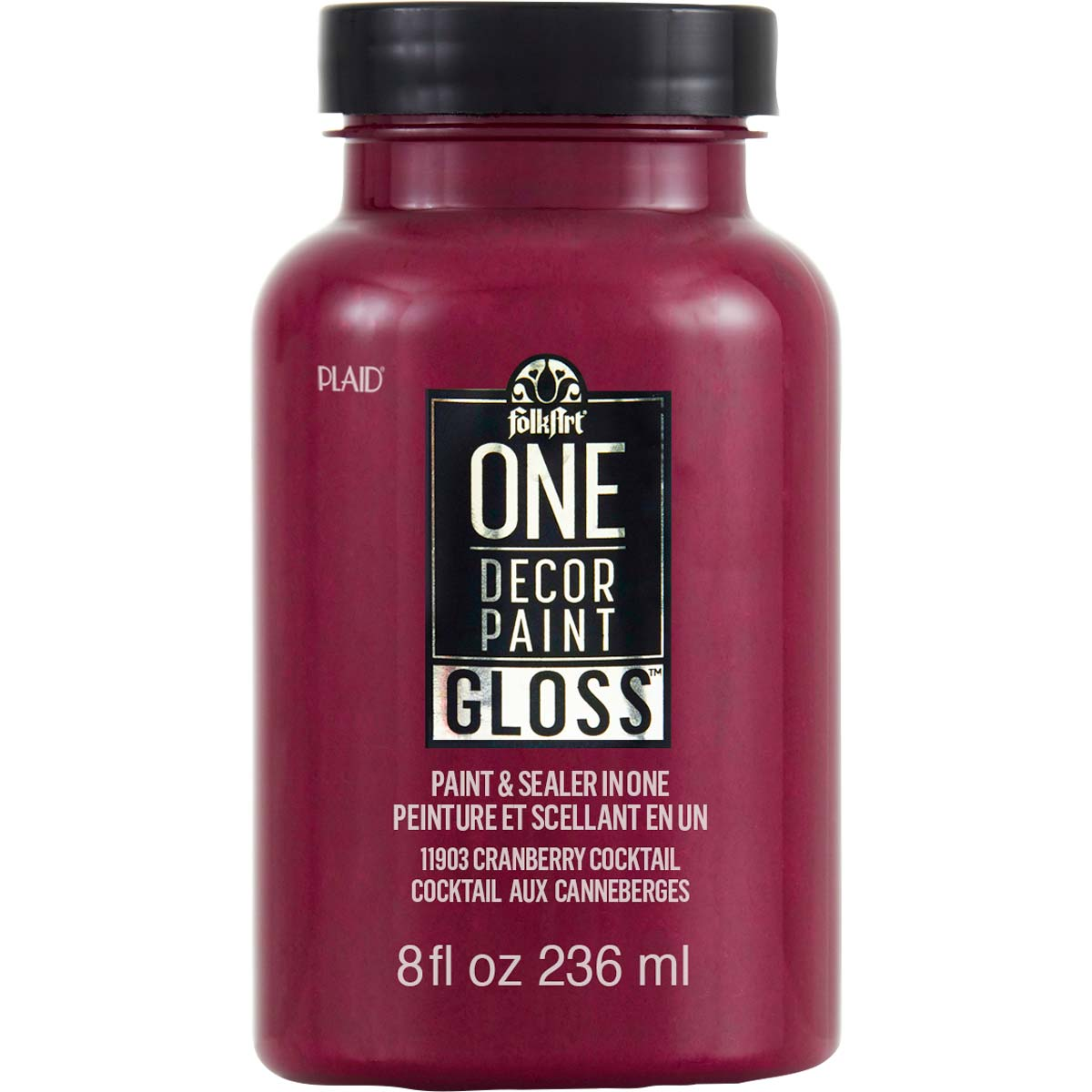 FolkArt ® One Décor Paint™ Gloss - Cranberry Cocktail, 8 oz. - 11903