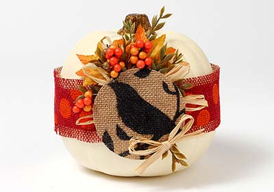 Burlap Wrapped Pumpkin