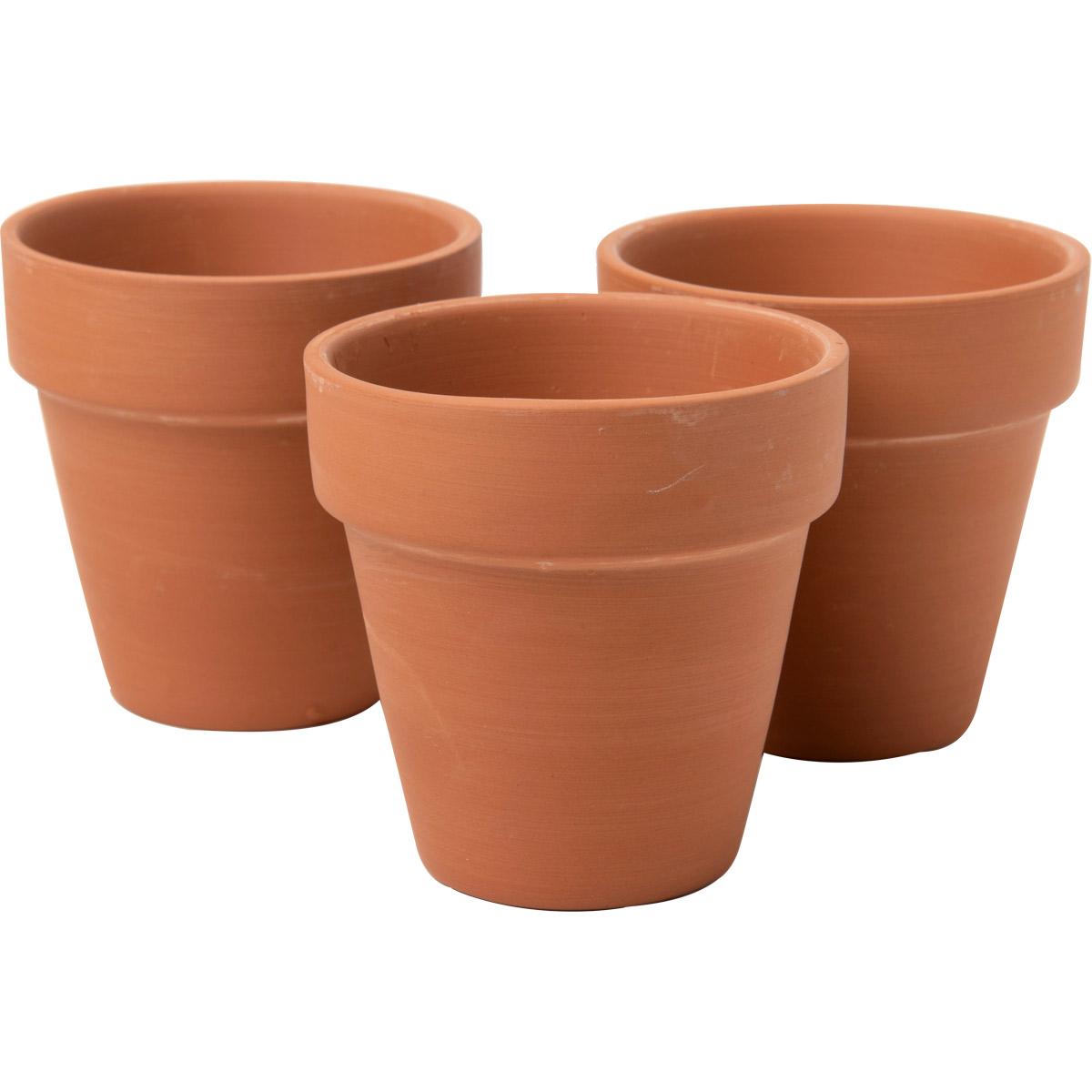 Plaid ® Surfaces - Terracotta Flower Pot, Small, 3 pc. - 44904