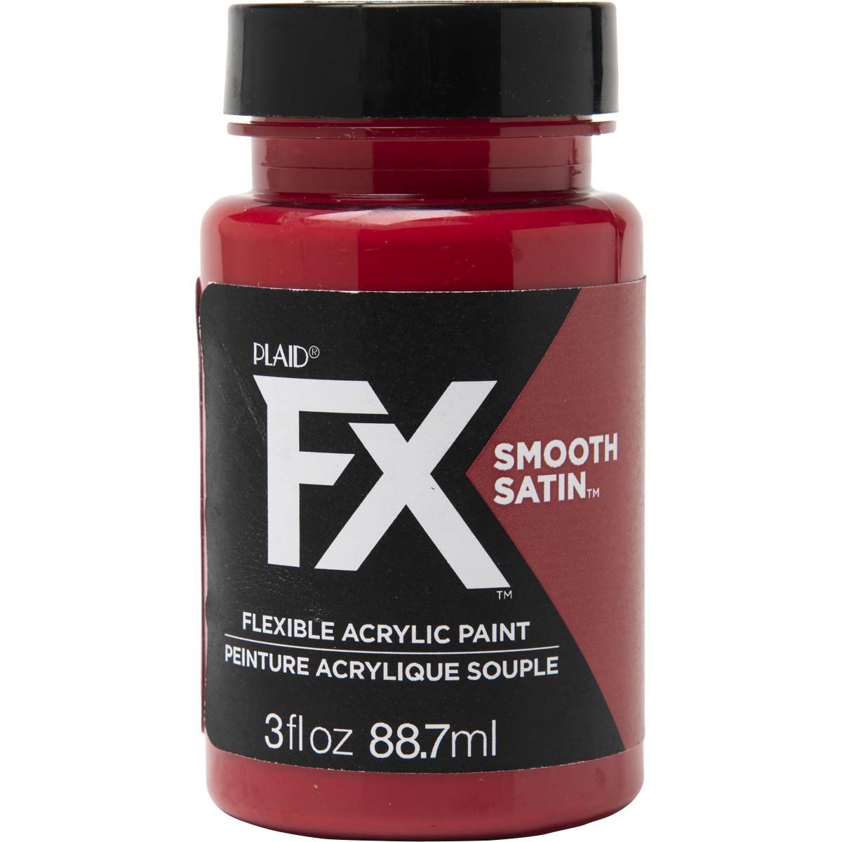 PlaidFX Smooth Satin Flexible Acrylic Paint - Crimson Crusade, 3 oz. - 36841