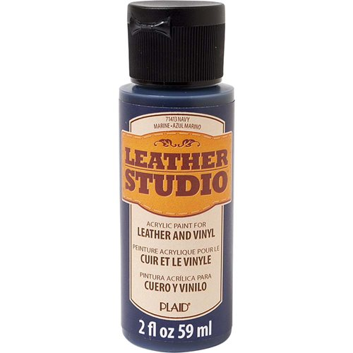 Leather Studio™ Leather & Vinyl Paint Colors - Navy, 2 oz.