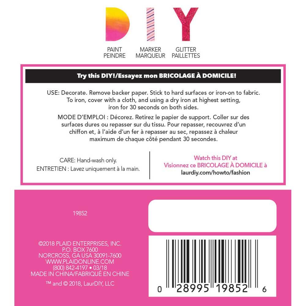 LaurDIY ® Iron-on Fabric Letters - Y