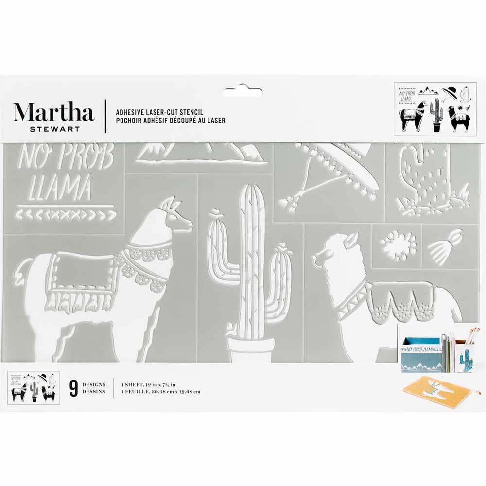 Martha Stewart ® Adhesive Stencil - Llama & Alpaca