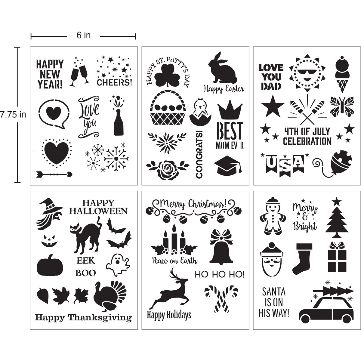 Delta Creative™ Stencil - Holiday