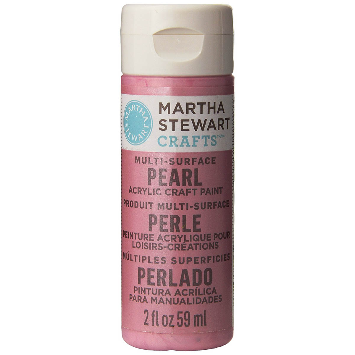 Martha Stewart ® Multi-Surface Pearl Acrylic Craft Paint - Pink Taffeta, 2 oz. - 32117CA