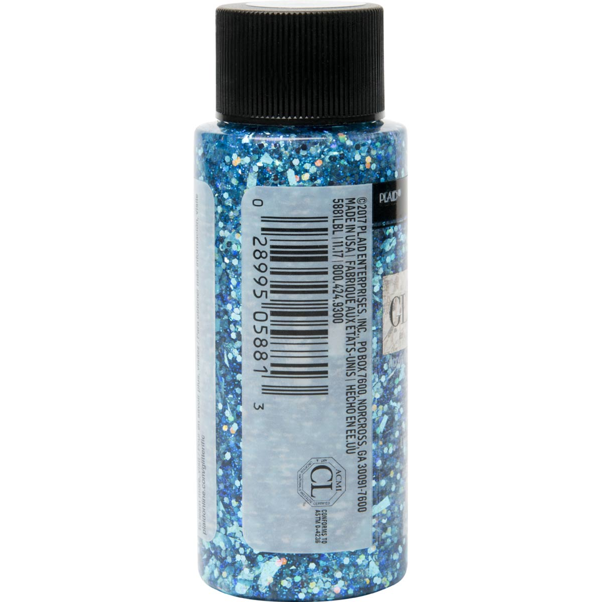 FolkArt ® Glitterific™ Acrylic Paint - Aqua, 2 oz. - 5881