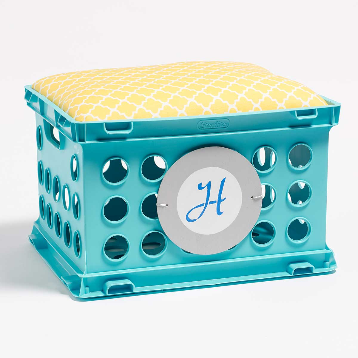 Dorm Storage Idea - Personalized Crate Seating