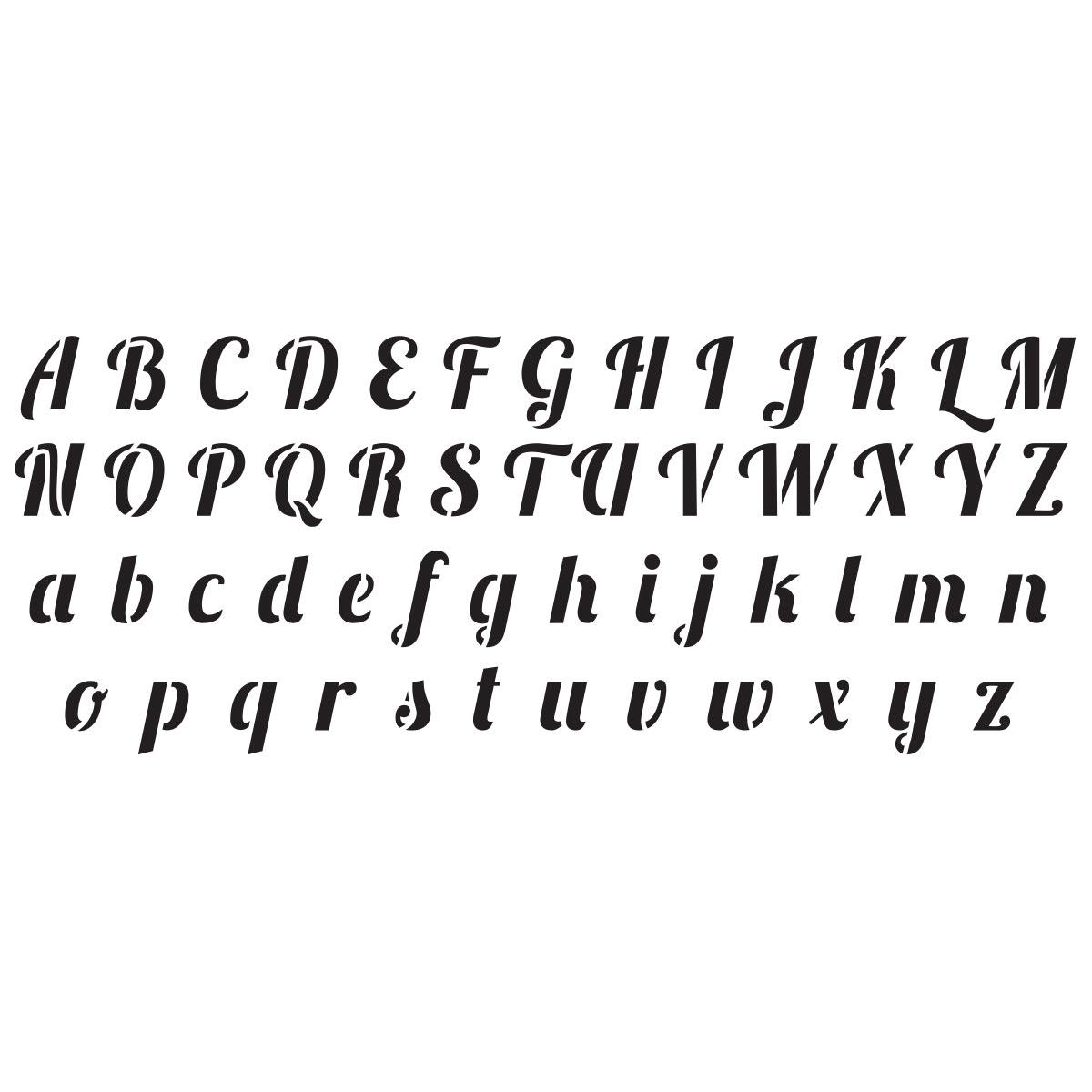 Delta Stencils - Alphabet - Script - 960170006