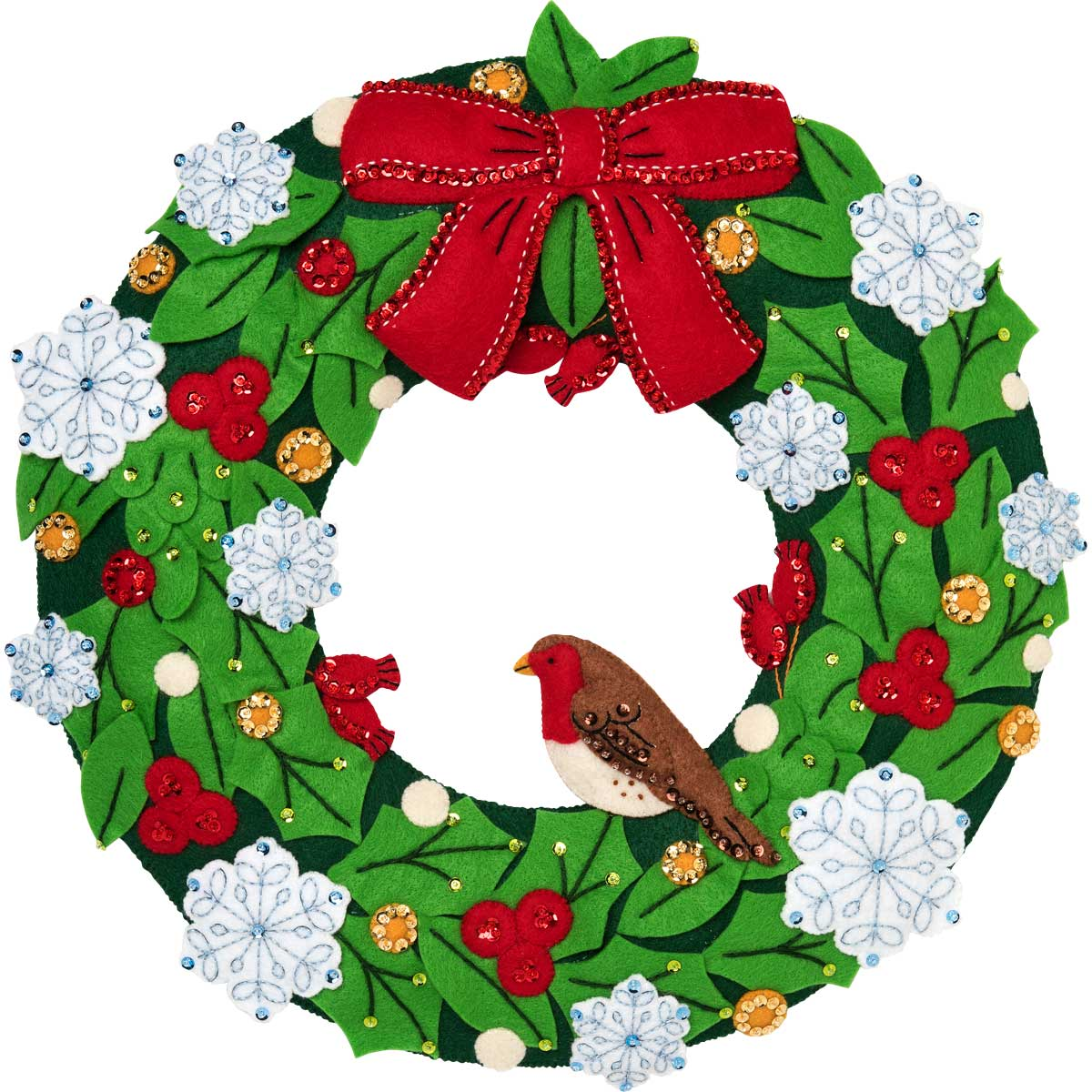 Bucilla ® Seasonal - Felt - Home Decor - Hallmark - 'Tis the Season Wreath - 86884