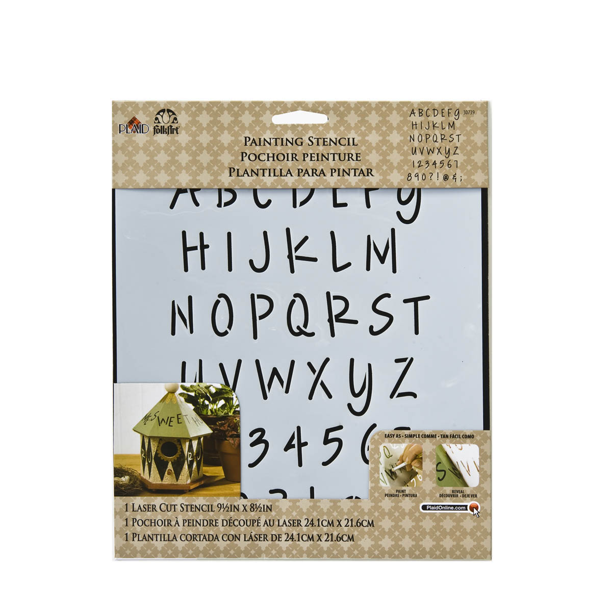 FolkArt ® Painting Stencils - Laser - Alphabet Lite Felt Tip Marker - 30739