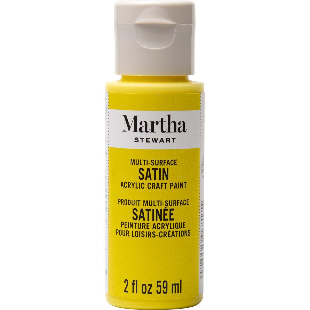Martha Stewart® 2oz Multi-Surface Satin Acrylic Craft Paint - Meyer Lemon