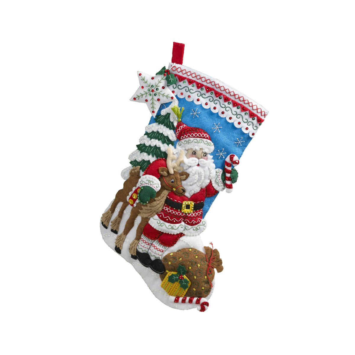 Bucilla ® Seasonal - Felt - Stocking Kits - Nordic Santa - 86647