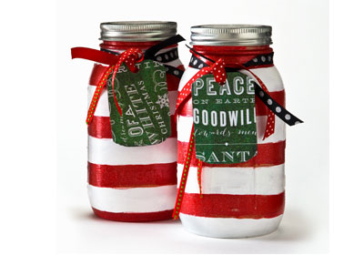 Candy Cane Cookie Recipe Jar