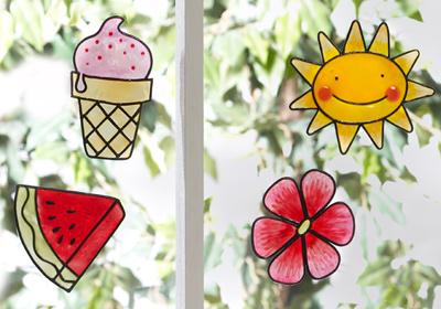 Sunny Summer Fun Clings