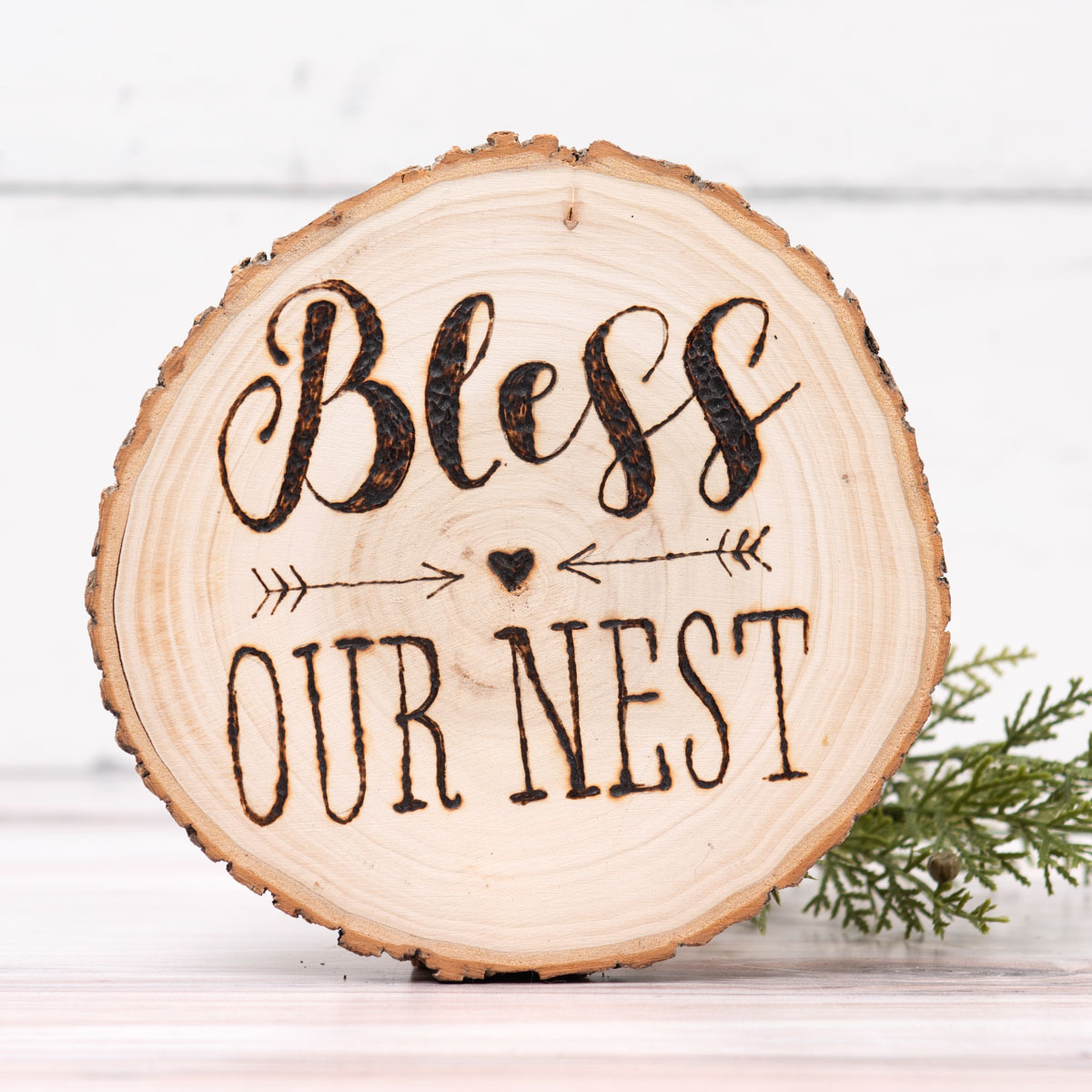 Bless Wood-Burned Christmas Sign DIY