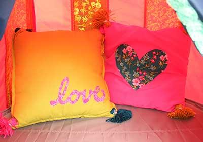 No Sew Hippie Floor Pillows