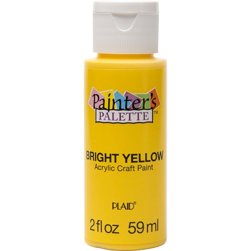 Plaid ® Painter's Palette™ Acrylic Paint - Bright Yellow, 2 oz.