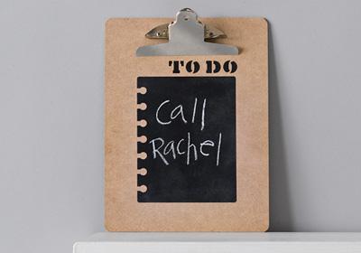 Handmade Charlotte Chalkboard Message Center To Do List Clipboard