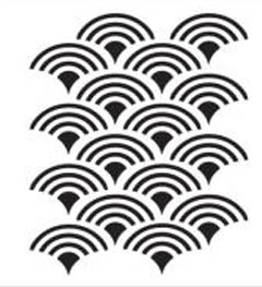 FolkArt ® Stencil1 ® Laser Stencils - Small - Scallop Pattern - 30957