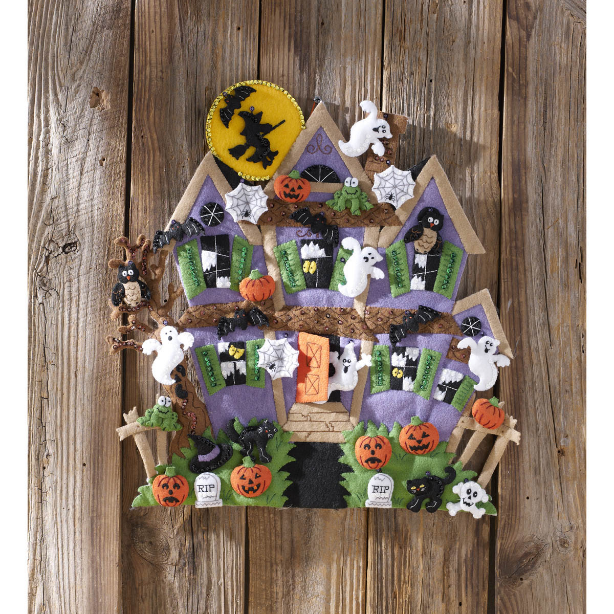 Bucilla ® Seasonal - Felt - Home Decor - Door/Wall Hanging Kits - Haunted House